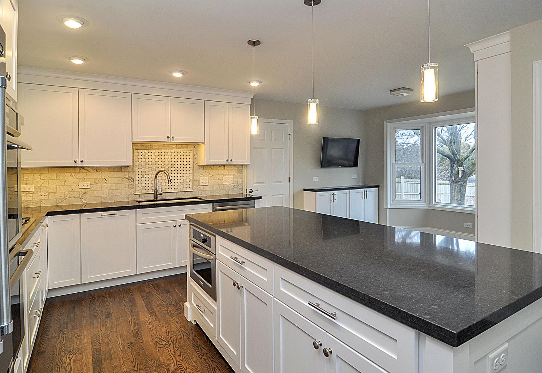 260 Kitchen Remodeling Ideas white Cabinetry Dark Granite Aurora Naperville IL Illinois Sebring Services