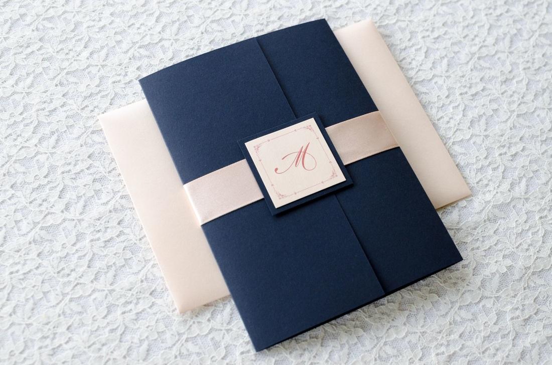 navy blue wedding invitation sets blush wedding invitations Navy Blush Wedding Invitations Affordable Pink Lace