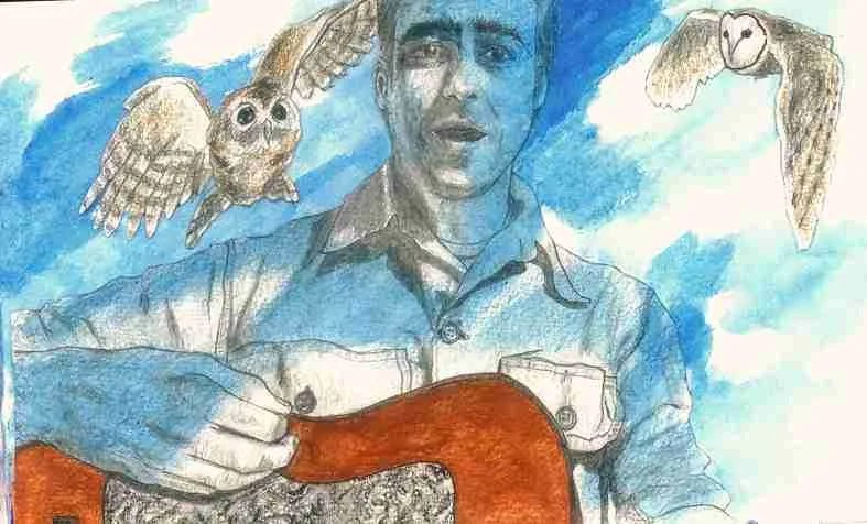 Lechuzas. Dibujo de Javier Lara