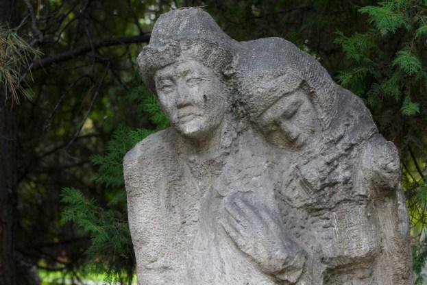 Statue in a park in Bishkek, Kyrgyzstan