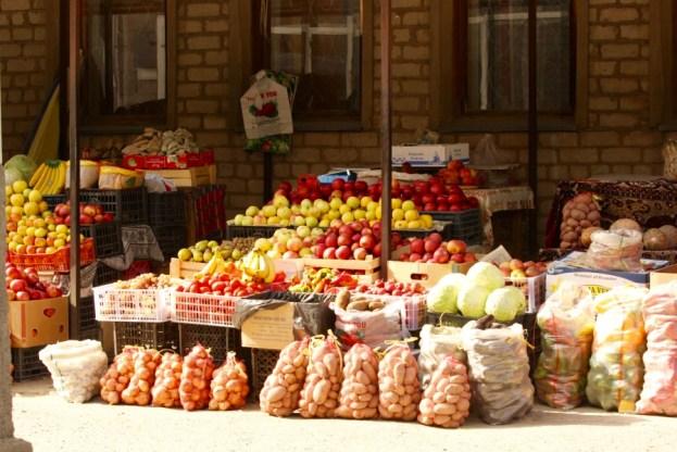 Side Street Market in Kyrgyzstan