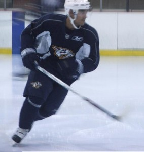 Francis Bouillon returns to Nashville Predators ice.