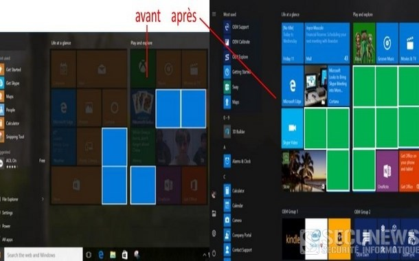 Microsoft va doubler le nombre de pubs sur le menu de Windows 10