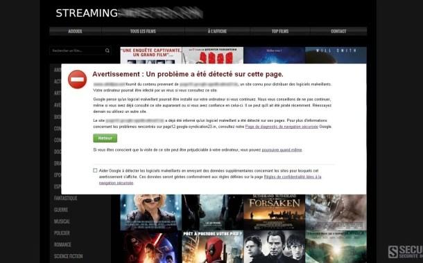 La moitié des publicités sur les sites de streaming gratuits renvoient à des virus