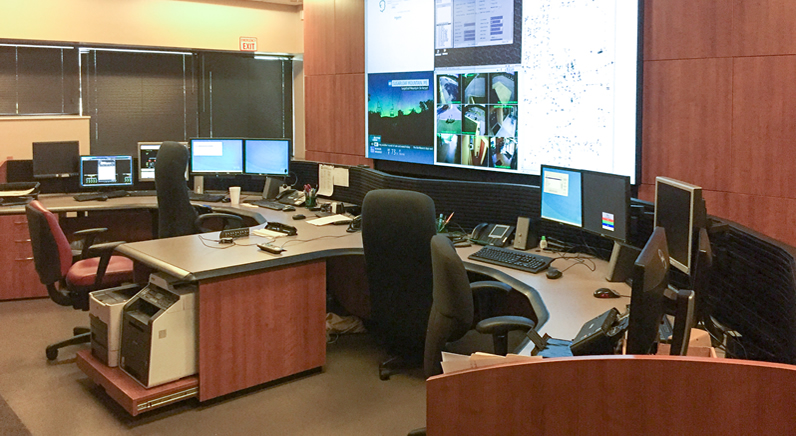 eyevis Control Room Video Wall monitors critical US power lines