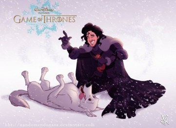 série GOT game of thrones Fernando Mendonca  E se os personagens de Game of Thrones fossem desenhados pela Disney