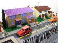 Springfield simpsons Recriar maquete lego Homer  Cidade de Springfield recriada em Lego