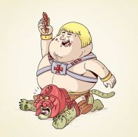 A obesidade ataca os nossos heróis!