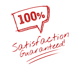 Satisfaction Guarantee 100% - Burst Badge Red