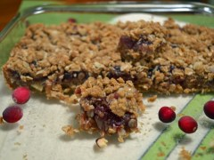 Jam Bars for National Cranberry Day