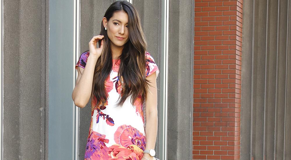 Floral Shift Dress + Linkup