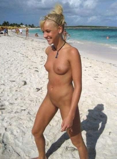 Outdoor amateur sex on a nudist beach