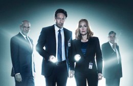 THE X-FILES: L-R: Mitch Pileggi, David Duchovny, Gillian Anderson and William B. Davis.  THE X-FILES TM & © 2016 Fox and its related entities. All rights reserved.