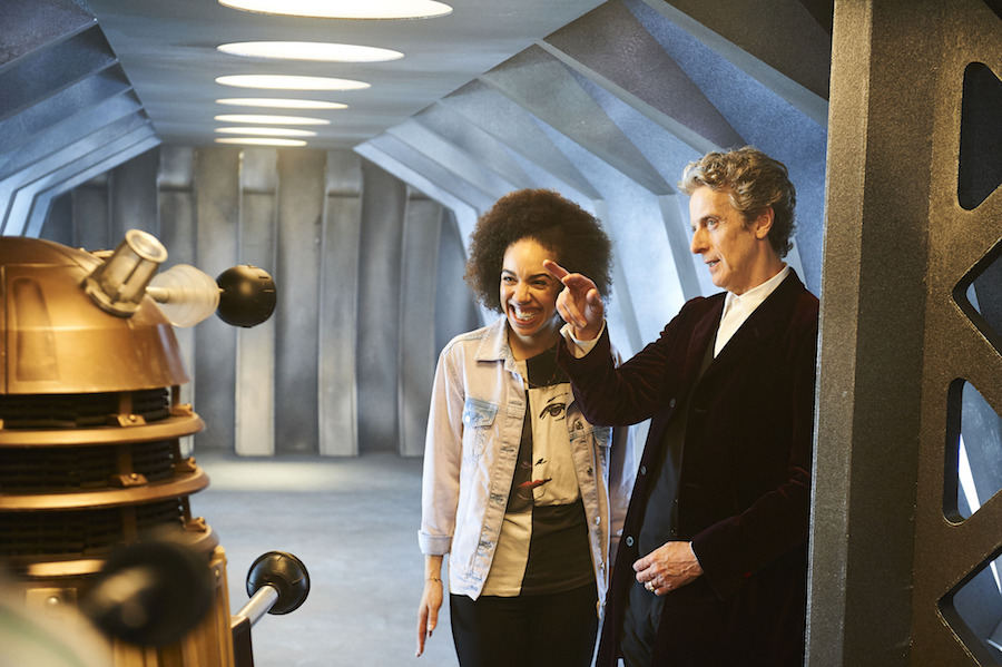 Pearl Mackie and Peter Capaldi in . Image: BBC/Ray Burmiston
