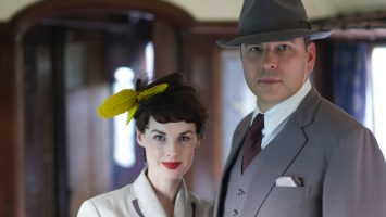 Left to Right : Jessica Raine as Tuppence and David Walliams as Tommy. Image:  Laurence Cendrowicz  / Endor Productions