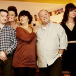 Orignal cast: (L-R) Tony (GREG MCHUGH), Ian (KEVIN GUTHRIE), Caroline (DANIELA NARDINI), Beth (ARABELLA WEIR), Eric (ALEX NORTON), Cathy (DOON MACKICHAN), Colin (JONATHAN WATSON). Image: BBC/Mark Mainz