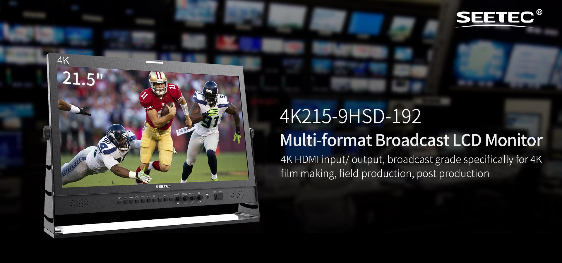 Monitor 4K HDMI 21.5 inch 3G-SDI 4K215-9HSD-192 SEETEC