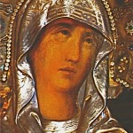 Twelfth Station: Close-up of face of Virgin Mary in Chapel of the Crucifixion (© Custodia Terrae Sanctae)