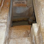 Emmaus/Abu Ghosh: Steps to Roman reservoir under Crusader church (Seetheholyland.net)