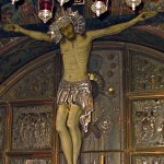 Twelfth Station: Close-up of crucifix in Chapel of the Crucifixion Twelfth Station: Close-up of figure of Christ in Chapel of the Crucifixion (Picturesfree.org)