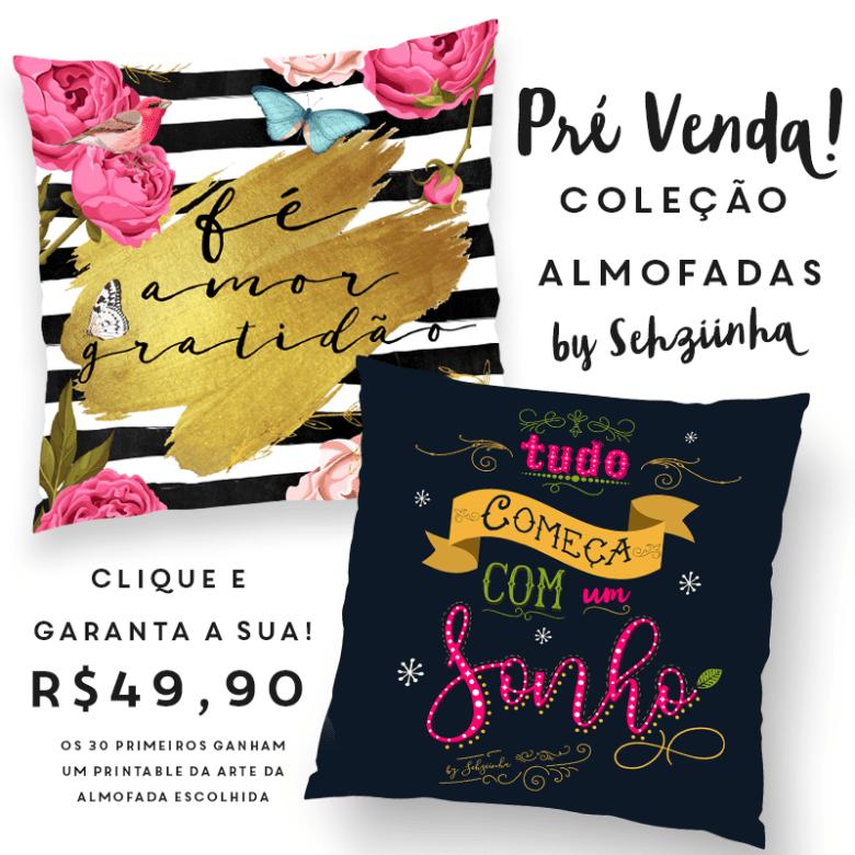 Sorteio e Lançamento da minha coleção de Almofadas by Sehziinha 2016 Sorteio Sorteio, Lançamento das Almofadas e Loja Design arte face alm