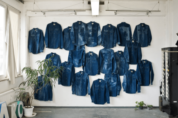 A Kind of Guise   The Results of Denim exposed to 90 Days of Sun, Wind & Rain