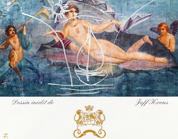Jeff Koons Designs the Chateau Mouton Rothschild Art label