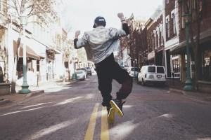 Man Jumping Street Jacket