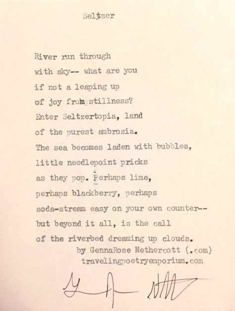 The text of the seltzer poem