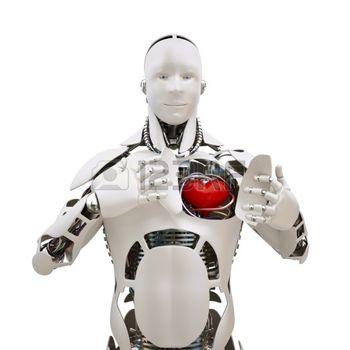 12799896-roboter-mit-offenen-herzen