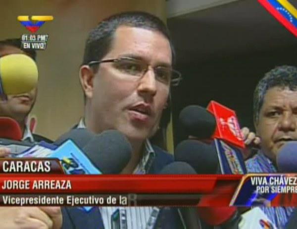 Vicepresidente de la República Bolivariana de Venezuela, Jorge Arreaza
