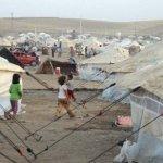 Campo de refugiados sirios en el Líbano.