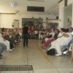 Gilberto Salinas interviene en asamblea general del hospital Federico Lleras Acosta. Foto Nelosi