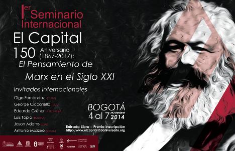 Seminario Internacional: 150 años de El Capital, en Bogotá