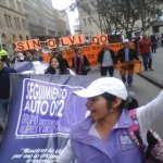 Las mujeres participaron en la marcha de víctimas del Estado, convocada por Andas