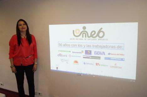 Sofía Espinosa Ortiz, presidenta de la UNEB.