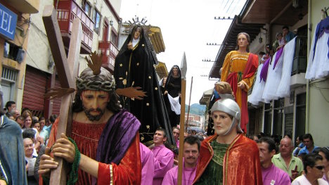 Procesión de semana santa. Foto E Barrera, El Informador.