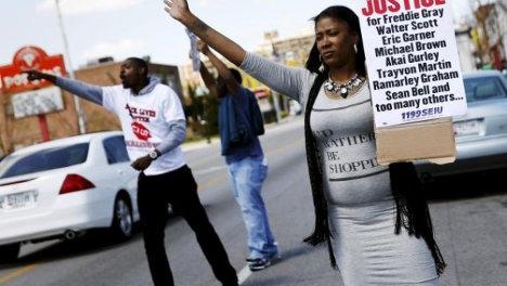 Protesta contra la Policía en Baltimore, el pasado abril.