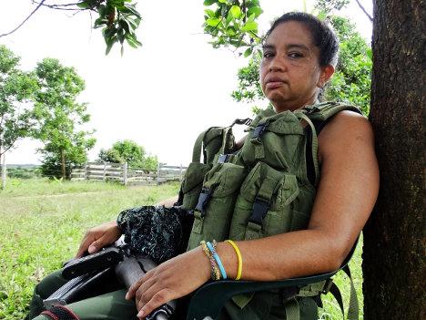 Laura Vega en los llanos del Yarí.