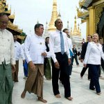 Barack Obama en visita a Birmania.