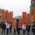 Movilización de profesores en Bogotá. Foto archivo.