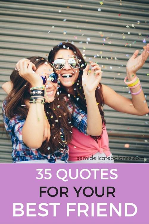 Medium Of Best Friend Quotes