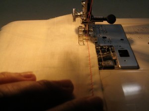 Sew a second line of stitch right outside the first.
