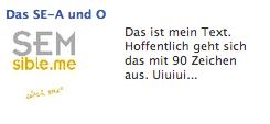 facebook Ad auf externen Link