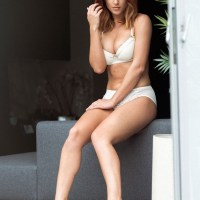Rosie Jones in her white panties for Page 3