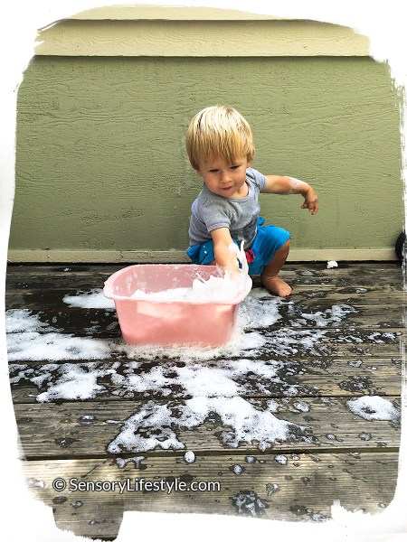 Playing in clean mess