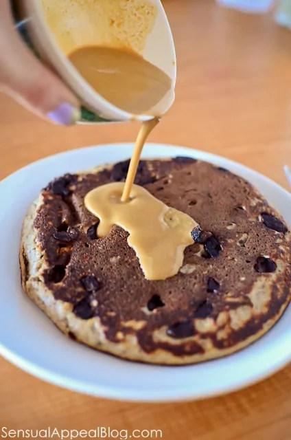 sensualappealblog.com //  gluten free chocolate chip protein pancake