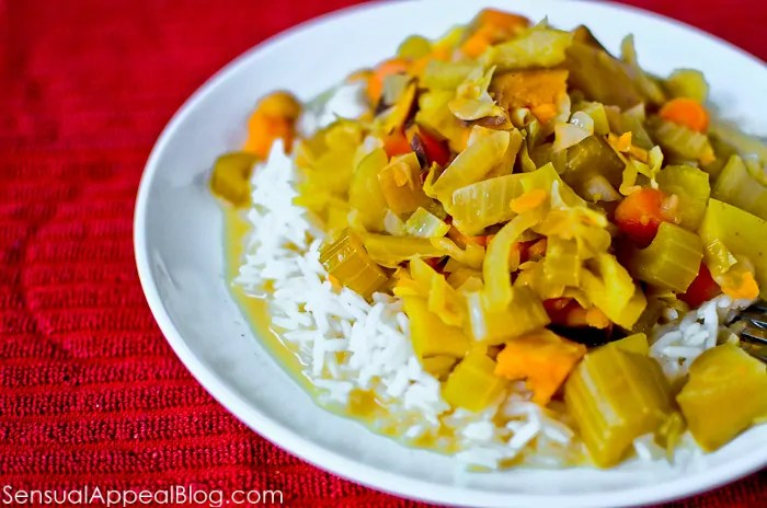 Crock Pot Recipe: Lightened Up Sweet & Spicy Veggie Curry (vegan)