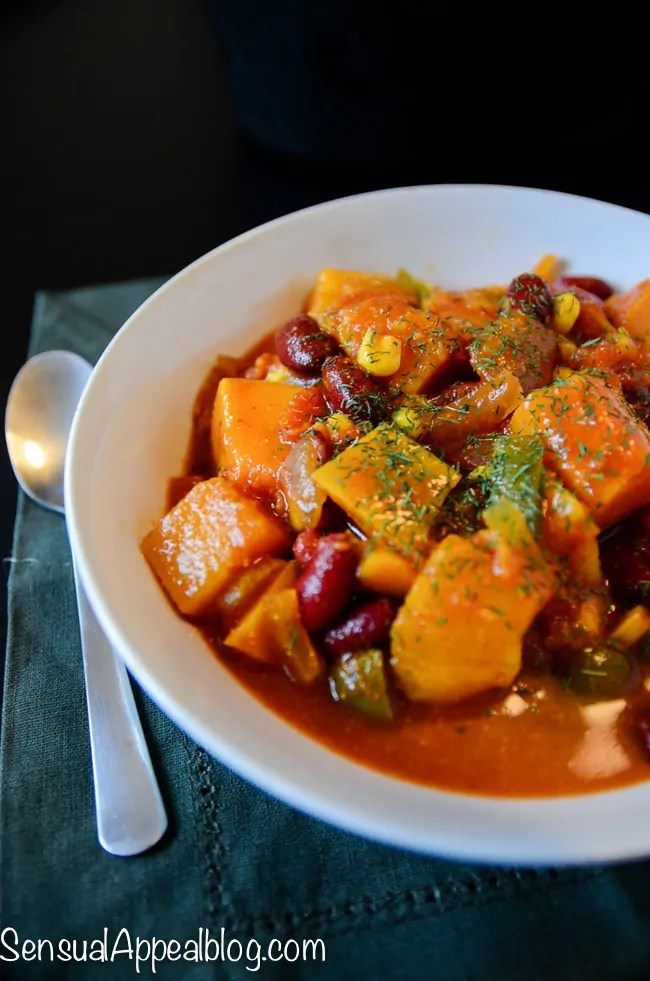 Vegan Butternut Chili - Healthy Crock Pot Recipe