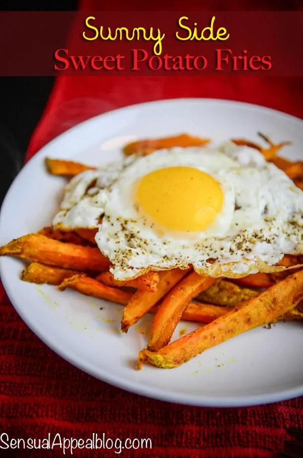 Sunny Side Sweet Potato Fries  - a healthier twist on an Irish brunch recipe